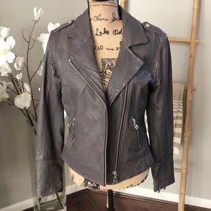 NWT DOMA grey leather jacket